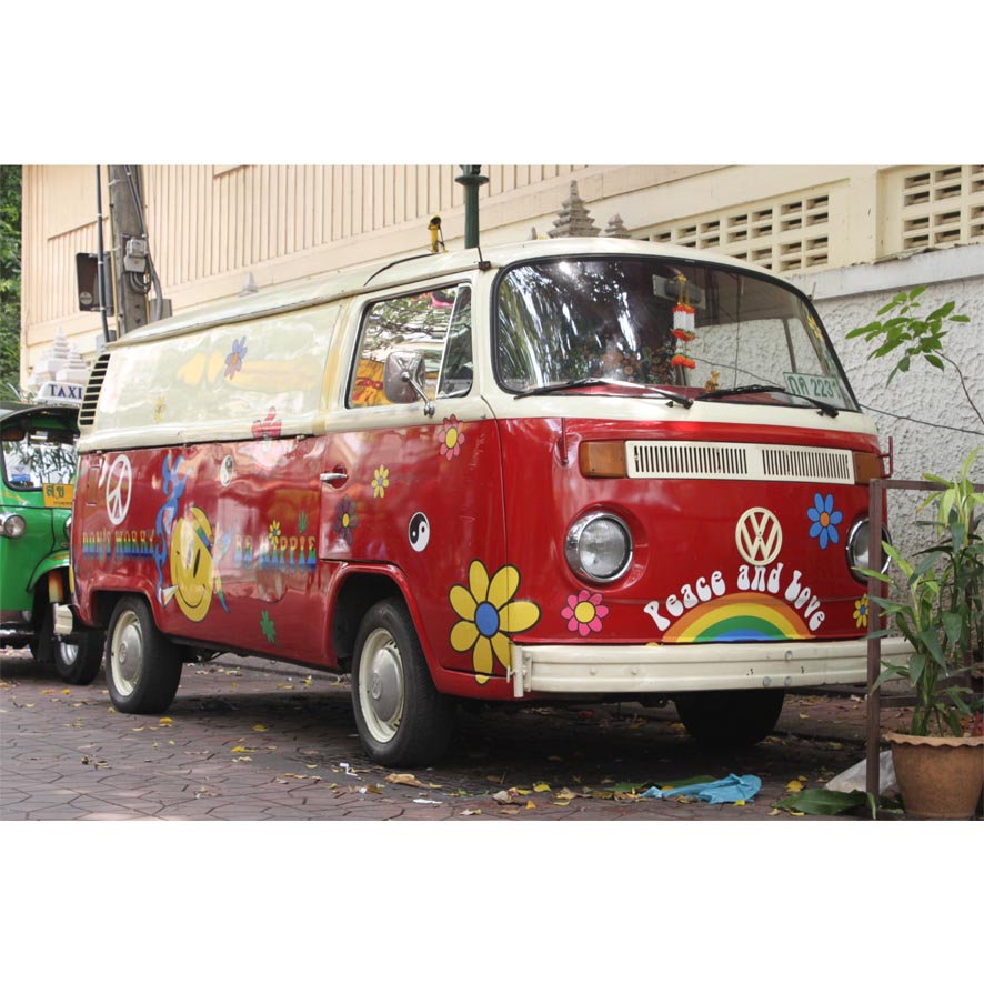 Hippies Bus (30x20cm)